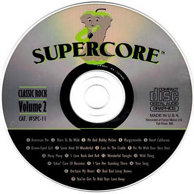 Supercore Karaoke SPC11 - CDG Label - DJ & KJ song books and lists