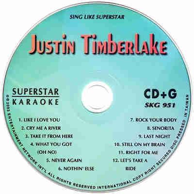 Superstar Karaoke SKG951 - Label CDG