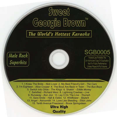 Sweet Georgia Brown Karaoke SGB05 - CDG label - KJ song books