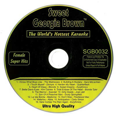 Sweet Georgia Brown Karaoke SGB32 Label downloads
