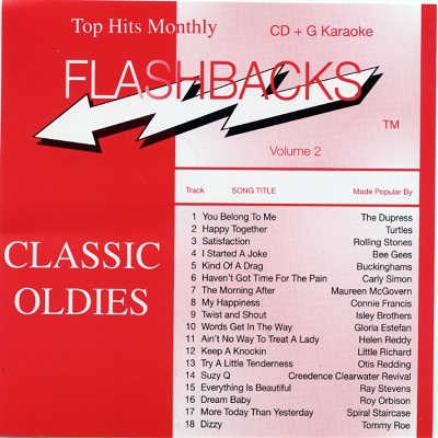 Top Hits Monthly Karaoke Flashback THMF02 - Front - DJ & KJ song lists and tracks