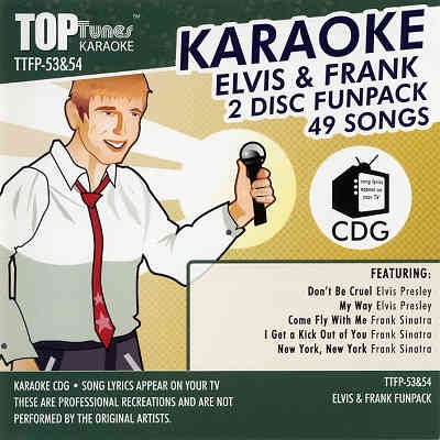Top Tunes Karaoke - Fun Pack TTFP53 & 54 - Front song books