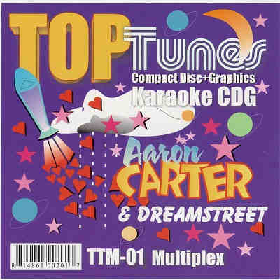 Top Tunes Karaoke Multiplex TTM001 - Front DJ & KJ song books and lists - disc identities