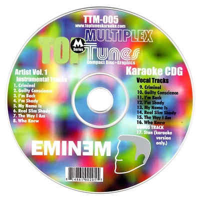 Top Tunes Karaoke Multiplex TTM005 - Label CDG