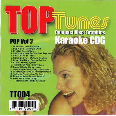 Top Tunes Karaoke - TT004 - Front - DJ & KJ song books and track lists