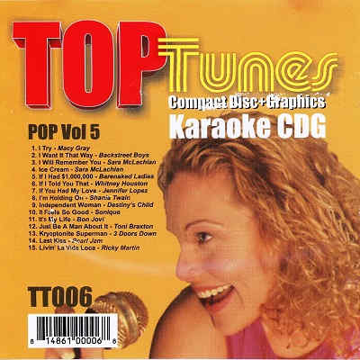 Top Tunes Karaoke - TT006 - Front CD+G