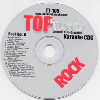 Top Tunes Karaoke - TT105 - Label - DJ & KJ song books and track listsings