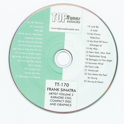 Top Tunes Karaoke - TT170 - Label CD+G