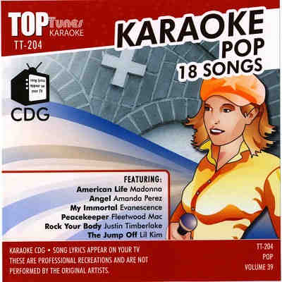 Top Tunes Karaoke - TT204 - Front - DJ & KJ song books and lists - disc identities