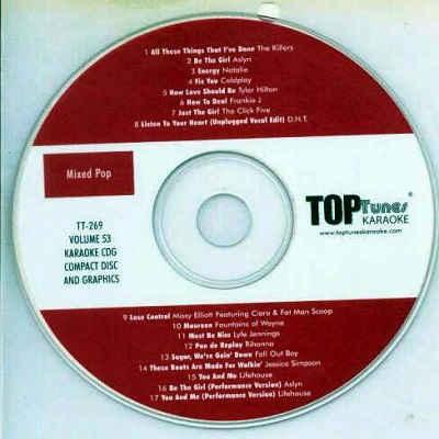 Top Tunes Karaoke - TT269 - Label CDG