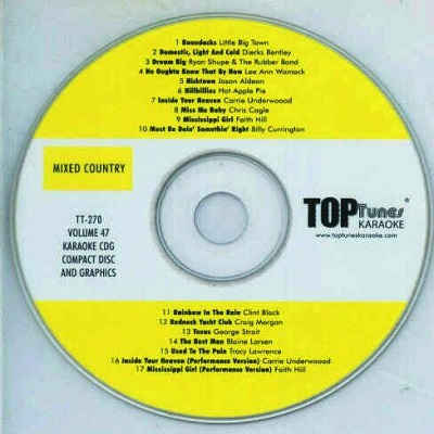 Top Tunes Karaoke - TT270 - Label CD+G