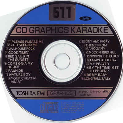 Toshiba Karaoke Disc TOS511 - Label CDG
