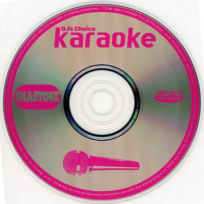 Turn Up The Music Karaoke TUTM1655 - Label CDG Disc