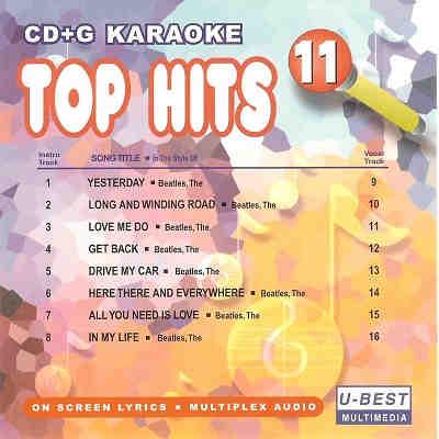 U-Best Karaoke UBG011 - Front - DJ & KJ song books and track lists