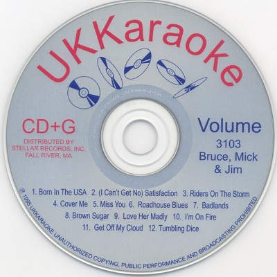 UK Karaoke Disc UKK3103 - Label CDG