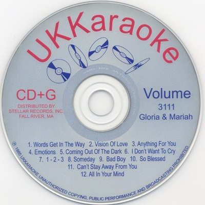UK Karaoke Disc UKK3111 - Label CD+G