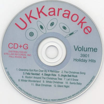 UK Karaoke Disc UKK3901 - Label CDG