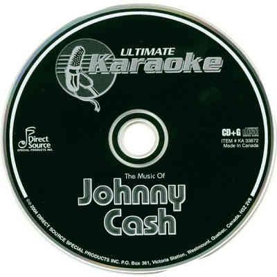 Ultimate Karaoke Disc UKA33872 - CD+G Label - Johnny Cash