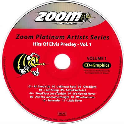 Zoom Karaoke Disc ZMP001 - Label - DJ & KJ song books and lists