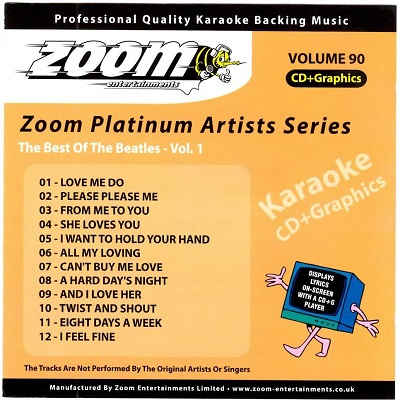Zoom Karaoke Disc ZMP090 - Front CD+G