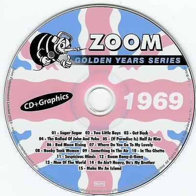 Zoom Karaoke Golden Years ZMGY69 - Label 1969 DJ & KJ song books and track listings