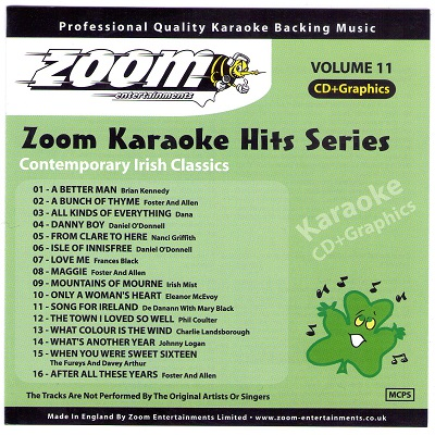 Zoom Karaoke Hits Disc ZKH011 - Front DJ & KJ song books and lists