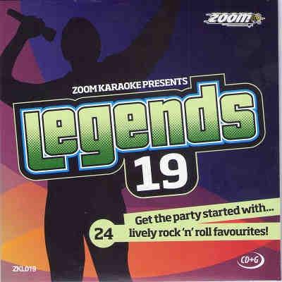 Zoom Karaoke Legends Disc ZKL019 - Front - CDG