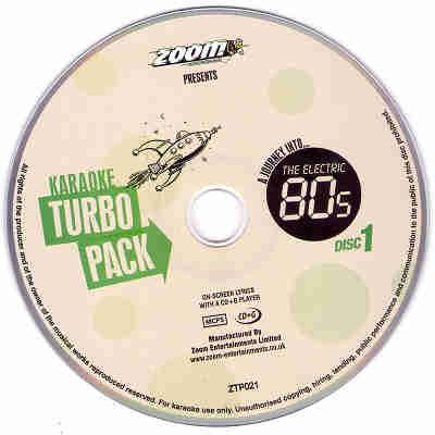 Zoom Karaoke Turbo Packs ZTP021 Label CDG