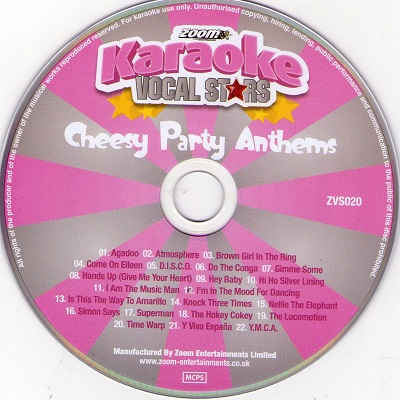 Zoom Karaoke Vocal Stars ZMVS020 - Label - DJ & KJ song books and lists