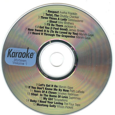 Keynote Karaoke Motown hits KNK1525 - Label