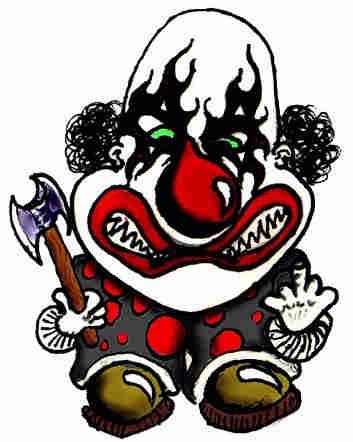 Killer karaoke - death clown cartoon