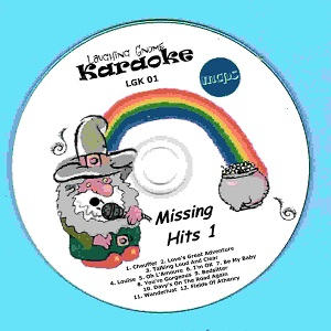 Laughing Gnome Karaoke Disc LGK001 label