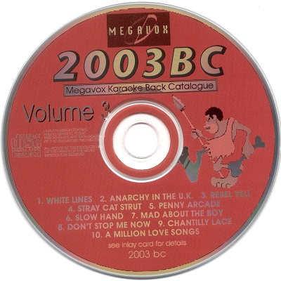 Megavox Karaoke Disc - MV2003