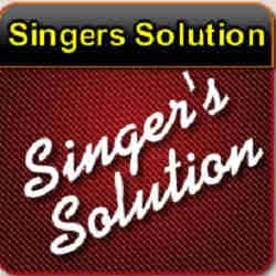 singers solution - logo and banner - quik hitz - fasttrax - dark red