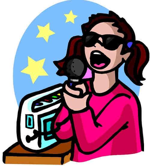 Toshiba Karaoke - Woman singing portable machine