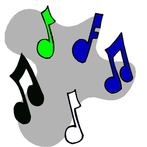 Toshiba Karaoke - colourful music notes