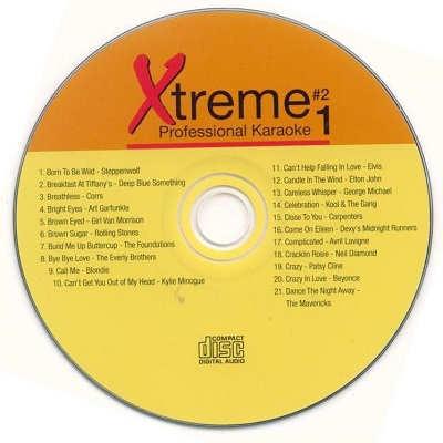 Xtreme Professional Karaoke - XPK1-02 - Label CDG