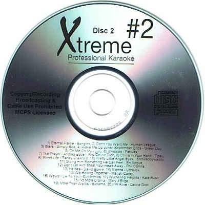 Xtreme Professional Karaoke - XPK2-02 - Label CDG