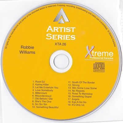 Xtreme Professional Karaoke - XTA026 - Label CDG