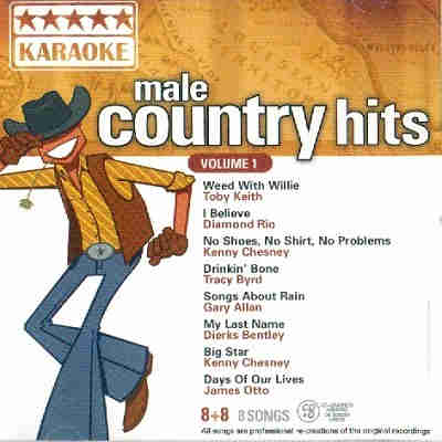 Five Star Karaoke - Male Country Hits - FSK1-16 Front