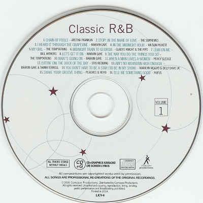 Lucky Star Karaoke - Classic R&B - LKY4 CDG Label