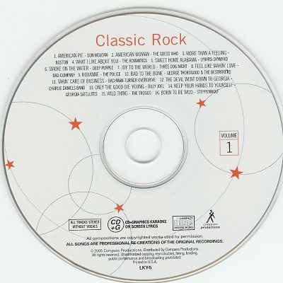 Lucky Star Karaoke - Classic Rock - LKY5 CDG Label