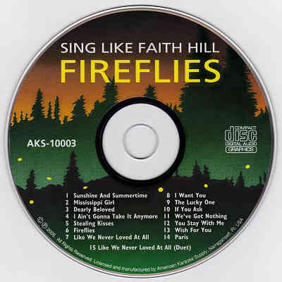 American Karaoke Supply - AKS10003 - Label - Fireflies