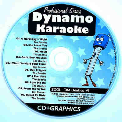 Dynamo Karaoke - DYN3001 - Label - song lists